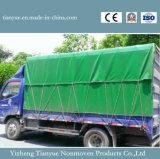 O PVC revestiu o rolo de encerado de lona