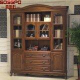 Biblioteca de madeira do Teak contínuo europeu do disconto do estilo (GSP18-007)