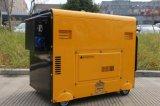 tipo silencioso portátil gerador Diesel Soundproof do dossel do começo elétrico de 5kw 6kw 7kw