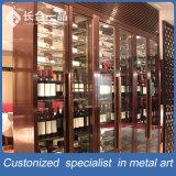 Module personnalisé de cave d'or de Rose d'acier inoxydable pour le restaurant/barre