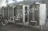 Acero inoxidable camisa de refrigeración Vino de buques de almacenamiento con lateral de alcantarilla