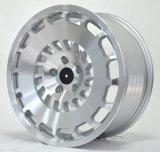 Roda de liga de design quente nova com face de máquina de prata