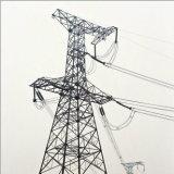 torre de la energía eléctrica de la transmisión 330kv