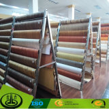 Grano de madera de papel decorativo para piso