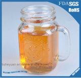caneca de cerveja 400ml de vidro sem chumbo altamente transparente com tampa