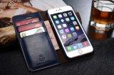 Lederner Fall des Mappen-Handy-TPU mit Kartenhalter für iPhone 8 ledernen Fall