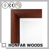 Moderner festes Holz-Spiegel-Rahmen, der für Hauptdekoration formt