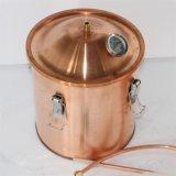 Kingsunshine 10L/3galのバブル・キャップの銅の蒸留器、純粋な水蒸留装置