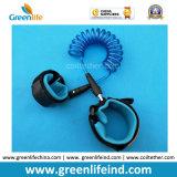Courroie bleue extensible harnais en plastique blanc/noir de 2m de faisceau d'enfant en bas âge de sûreté