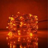 Indicatore luminoso infiammante esterno decorativo della corda dell'arancio LED di natale