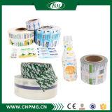 Напечатанный PVC ярлык бутылки с сертификатом