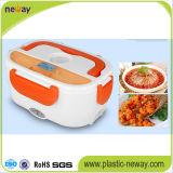 Rectángulo de almuerzo eléctrico de la calefacción del calientaplatos del acero plástico e inoxidable