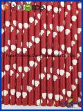 Красный цвет украшения вечеринки по случаю дня рождения с белой Hearted бумажной сторновкой
