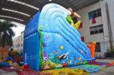 子供の演劇(chsl625)のためのサーフの主題の膨脹可能なスライドの動物のスライド