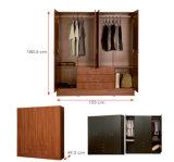 Guardarropa de madera laminado melamina de la cabina de almacenaje de la ropa del MFC (HX-DR311)