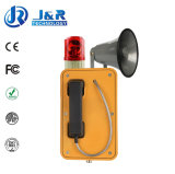 Telefone Emergency do túnel do júnior IP67, telefone sem fio subterrâneo com pisca-pisca