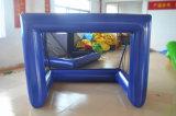 Cancello gonfiabile blu della sfera dell'acqua per gioco del calcio dell'acqua e gioco del calcio del sapone