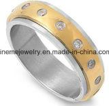 De in het groot Natuurlijke Ring van de Juwelen van de Manier van het Roestvrij staal van de Steen
