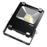 Lámpara del proyector del color negro delgado 10W exterior alta potencia LED
