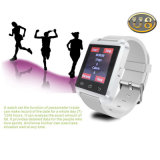 Relógio esperto Android de Bluetooth U8 com câmera e ranhura para cartão de SIM