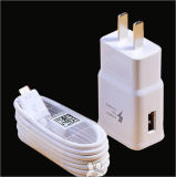 5V 2.1A는 USB Chager Samsung S6/S7 /S8 벽 접합기를 위한 단식한다