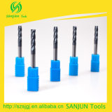 Utensili per il taglio di CNC del carburo del laminatoio di estremità delle 4 scanalature/lungamente della fresa di lunghezza di tibia