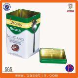 Листьев чая Китая металла фабрики квадратных упаковывая с качеством еды с ложкой