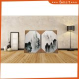Art de mur personnalisé par vente chaude de peinture à l'huile de toile pour le décor de salle de séjour