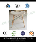 Tabouret fixe de matériel de pieds en bois solide d'art de tissu