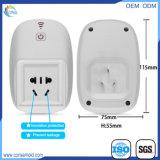 Intelligente drahtlose Energie WiFi Plastikstecker-Shell für europäischen Standard