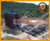 Goldkupferner Zinn-Erz-Bergbau, der Tisch rüttelt