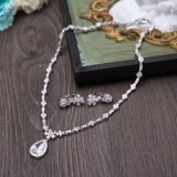 Новый комплект серьги ожерелья способа Rhinestone серебра конструкции