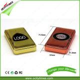 Shenzhen-Fabrik-Preis-rauchendes Zubehör-Goldmetallplättchen USB-Feuerzeug