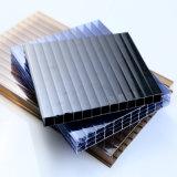 Feuille protégée UV antibrouillard de cavité de polycarbonate de quatre murs pour la serre chaude