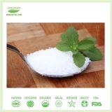 Volume branco natural do pó do Stevia