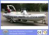 Uitstekende kwaliteit 5, de Opblaasbaar Boot van de Glasvezel van 8m/Jacht van Ce 9person