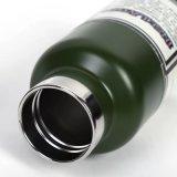 Flasche des Edelstahl-350ml, Sport-Wasser-Flasche mit Finger-Ring (SH-ST05)