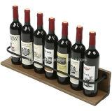 Aménagement en bois fixé au mur de vin de crémaillère de porte-bouteilles de crémaillère de vin