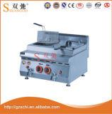 Friteuse 2-Tank de gaz de friteuse de prix bas de qualité de Shuangchi