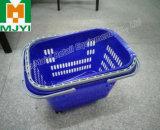 Conveniente loja de varejo de supermercado 4 rodas de plástico