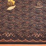 Il tessuto dell'organdi ricama il merletto del cotone del ricamo del merletto del tessuto