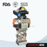 Vanne papillon sanitaire soudée électrique à l'acier inoxydable (JN-BV2006)