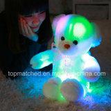 Urso de incandescência colorido da peluche do brinquedo do luxuoso dos animais enchidos do urso da peluche do diodo emissor de luz