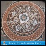 ホーム装飾のための混合された大理石及びTravertineの石造りのモザイク円形浮彫りのフロアーリング