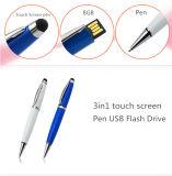 Azionamento multifunzionale dell'istantaneo del USB della penna 16GB con la penna di Ballpoint e la penna di tocco