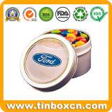 مستديرة شوكولاطة قصدير صندوق لأنّ طعام يعبّئ, معدن شوكولاطة علبة