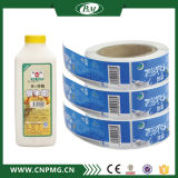 Escritura de la etiqueta transparente de encargo de la etiqueta engomada para empaquetar