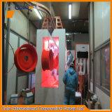 Sistema de revestimento industrial do pó da borda da roda da liga