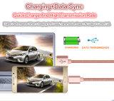 Раковина 5V кабель USB поручать и данным по 2A металла для Samsung, iPhone