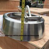 Couverture de trou d'homme Shadowless ovale de pression d'acier inoxydable